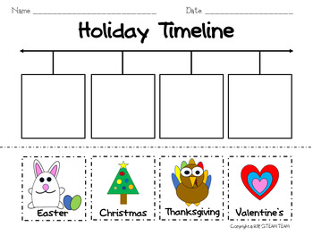 Holiday, Seasons, People, and Technology Timelines with Blank Template