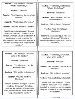 ESL:Holiday, Seasons, and Weather Vocabulary Cards for Primary and ELL Newcomers