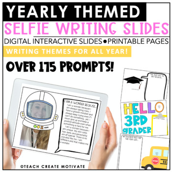 Digital Themed Selfie Writing Pages   Slides   Holiday