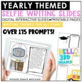 Digital Themed Selfie Writing Pages | Slides | Holiday