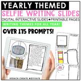 Distance Learning Digital Themed Selfie Writing | Slides | Google Classroom