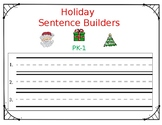 Holiday Sentence Builders