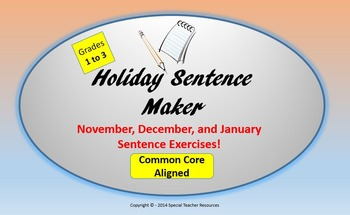 Holiday Sentence Maker