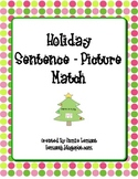 Holiday Sentence - Picture Match
