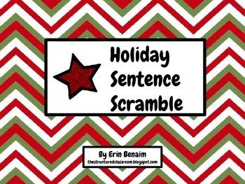 Holiday Sentence Scramble
