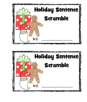Holiday Sentence Scramble for Christmas Literacy Workstations