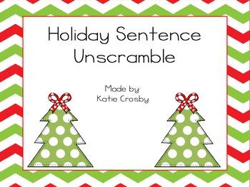 Holiday Sentence Unscramble