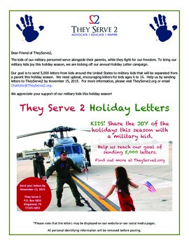 Holiday Service Project Opportunity