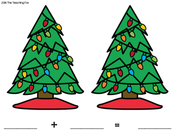 Holiday Shake, Spill, and Count Addition Game - GROWING SET