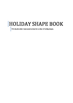 Holiday Shape Book