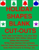 Holiday Shapes Blank Cut-Outs