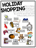 Holiday Shopping - Adding Money Holiday Activity