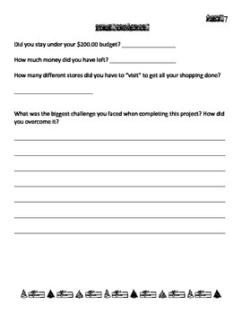 Holiday Shopping Math Project