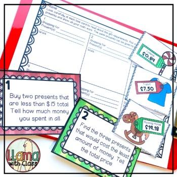 Holiday Shopping Math Task Cards