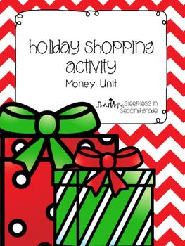 Holiday Shopping Money Activity