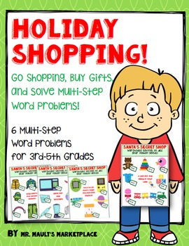 Holiday Shopping Multi-Step Word Problems: Add and Subtract Money up to Hundreds