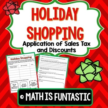 Holiday Shopping: Sales Tax and Discounts