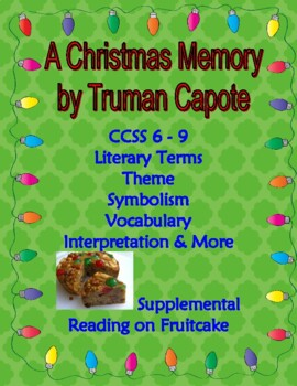a christmas memory by capote holiday story personal narrative activity