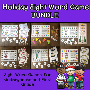 Holiday Sight Word Games BUNDLE