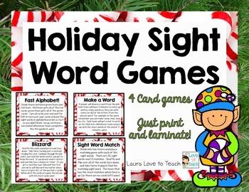 Holiday Sight Word Games (K-1)