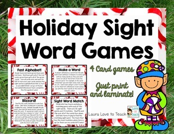 Holiday Sight Word Games (K-1)