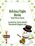 Holiday Sight Word Primer