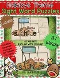 Holiday Sight Word Puzzles EDITABLE