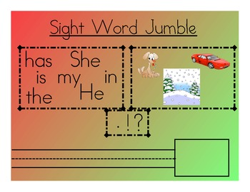 Holiday Sight Word Sentence Builder