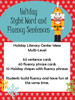 Holiday Sight Word Sentences and Fluency Phrases RTI Reading Centers