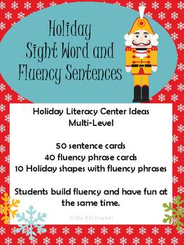 Holiday Sight Word Sentences and Fluency Phrases RTI Readi