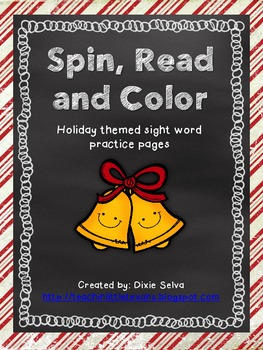 Holiday Sight Word Spin, Read & Color