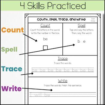 No Prep Sight Word Work Mats {Dolch Primer Pack}