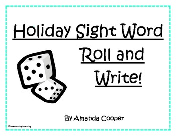 Holiday Sight Words Roll and Write