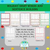 Holiday Sight Words and Sentence Building