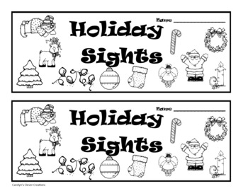 Holiday Sights Sight Word Booklets