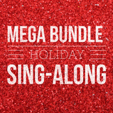 Christmas Holiday Slideshow (Editable) & Song Sheets BUNDLE