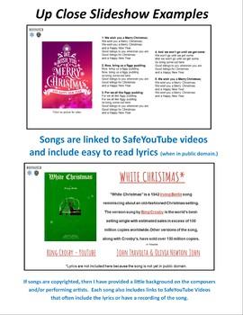Christmas Holiday Sing Along Slideshow 80+ Sacred and Secular Favorites-EDITABLE