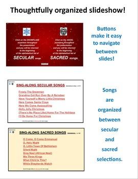Christmas Songs Holiday Slideshow 80+ Sacred/Secular Favorites [Editable]