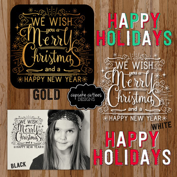 Holiday Single Christmas Holiday - Inspirational Word Art Photo Overlays Digital
