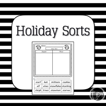 Holiday Singular and Plural Sort