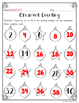 Christmas Skip Counting: Numbers 2 - 10
