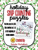 Holiday Skip Counting Puzzles- Count by 5, 10, & 100!