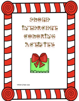 Holiday Slope Intercept Coloring Activity