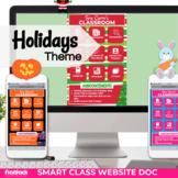 Holidays Smart Class Website Doc (Google Slides Style!)
