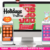 Parent Communication Template | Google Slides | Class Website | Holidays