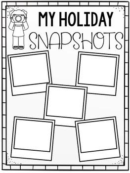 Holiday Snapshots FREEBIE
