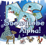 "Holiday Snow Globe Alphabet 92 pcs - 4"" High, 150 DPI PNG & PDF Vector"