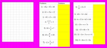 Winter Math Equations Review - Google Classroom Ready