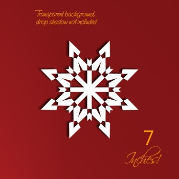 Holiday Snowflake Papers or Backgrounds • 8 Snowflake Digital Stamps 7 In.