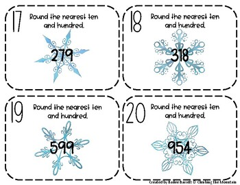 Holiday Snowflakes Rounding Round-Up